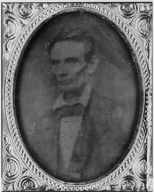 [Abraham Lincoln, half-length portrait, facing left]