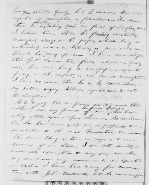 Abraham Lincoln to Charles L. Wilson, Tuesday, June 01, 1858  (1858 Campaign)