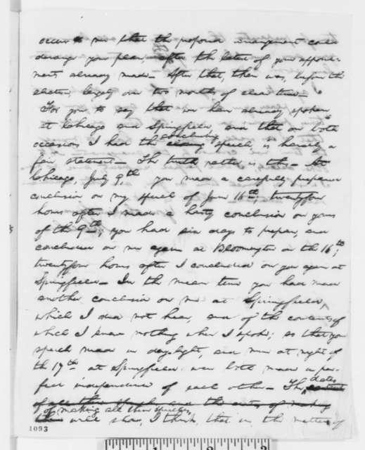 Abraham Lincoln to Stephen A. Douglas, Thursday, July 29, 1858  (Debates)