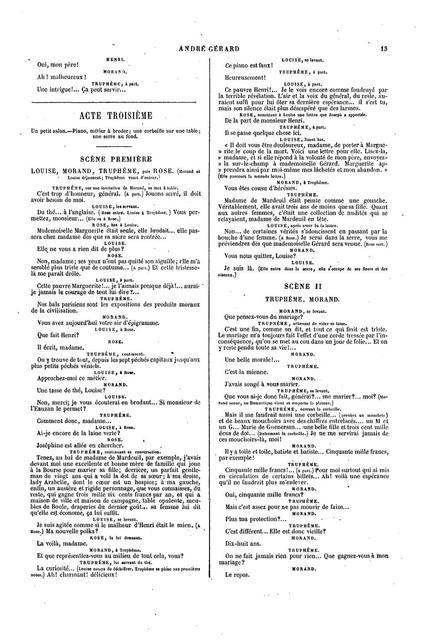 André Gérard, drame en cinq actes, en prose ...