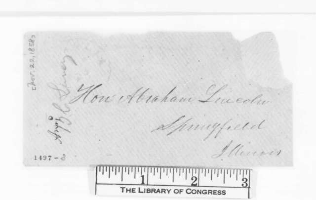 Benjamin C. Lundy to Abraham Lincoln, Monday, November 22, 1858  (1860 nomination; with Clipping)