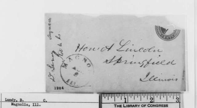Benjamin C. Lundy to Abraham Lincoln, Tuesday, August 10, 1858  (Invitation)