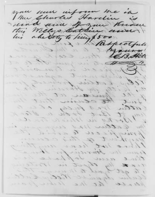 C. B. Hitt to Abraham Lincoln, Monday, May 03, 1858  (Legal)