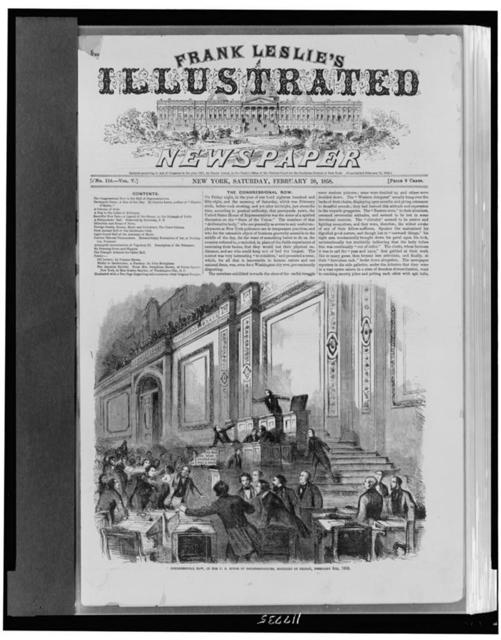 Congressional row, in the U. S. House of Representatives, midnight of Friday, February 5th, 1858