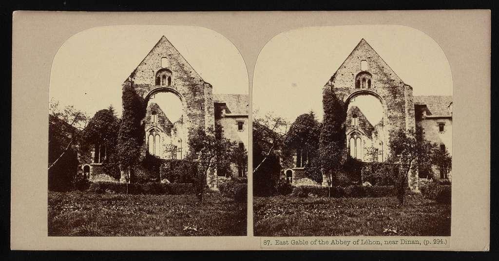East gable of the Abbey of Léhon, near Dinan, (p. 294.)