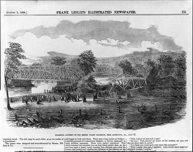 Frightful accident on the Lehigh Valley Railroad, near Allentown, Pa., July 21