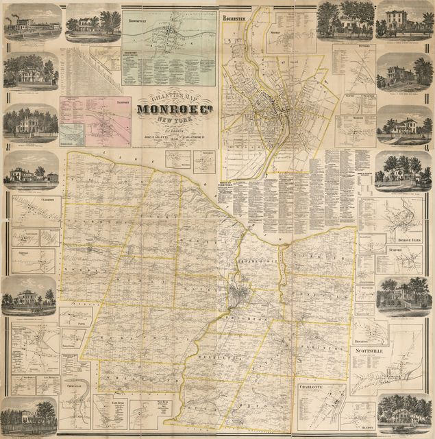 Gillette's map of Monroe Co., New York : from actual surveys /