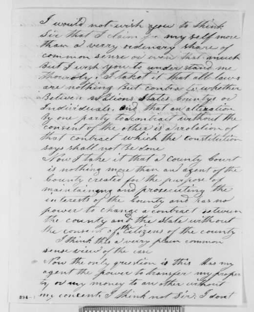 Henry West to Abraham Lincoln, Wednesday, June 16, 1858  (Constitutional interpretation)