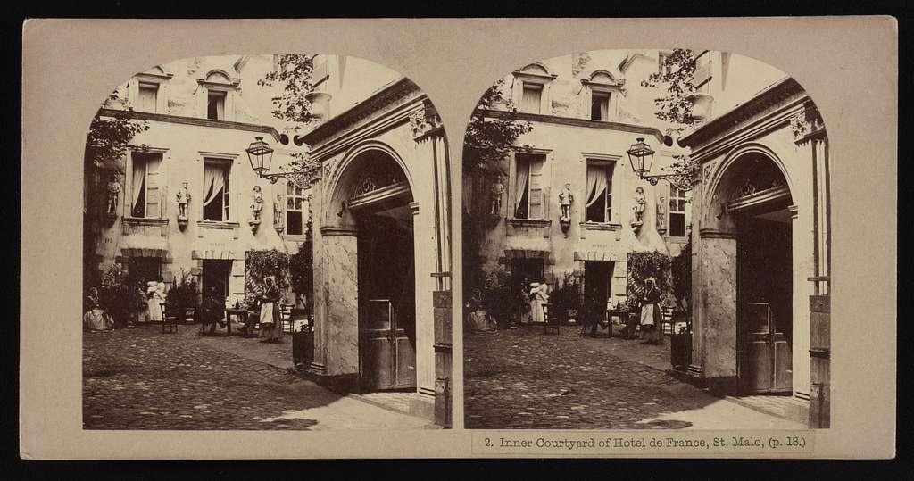 Inner courtyard of Hotel de France, St. Malo, (p. 18.)