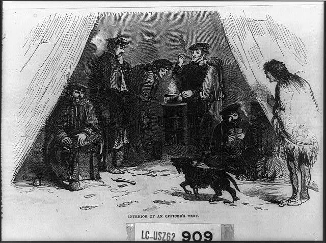 Interior of an Officer's Tent - Utah Expedition [Gen. Albert Johnston's Exped.]