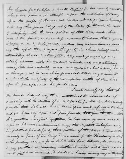 James Watson Webb and George C. Bates to Charles L. Wilson, Wednesday, June 09, 1858  (Printed Extract)