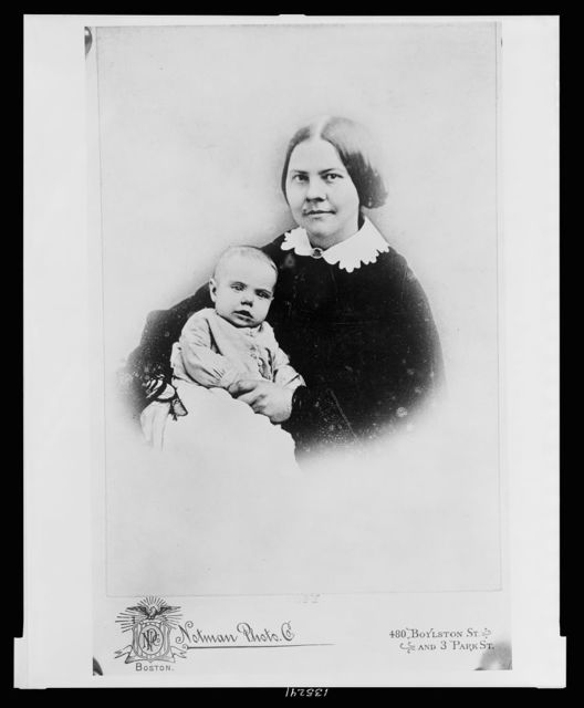 [Lucy Stone with daughter Alice Stone Blackwell, half-length studio portrait, sitting, facing front]