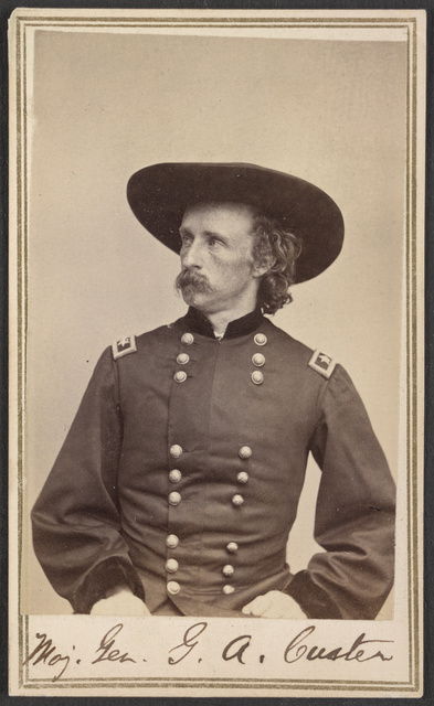 Maj. Gen. G.A. Custer / From photographic negative in Brady's National Portrait Gallery.