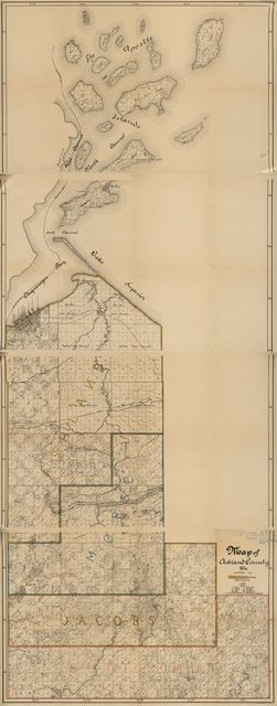 Map of Ashland County, Wis.