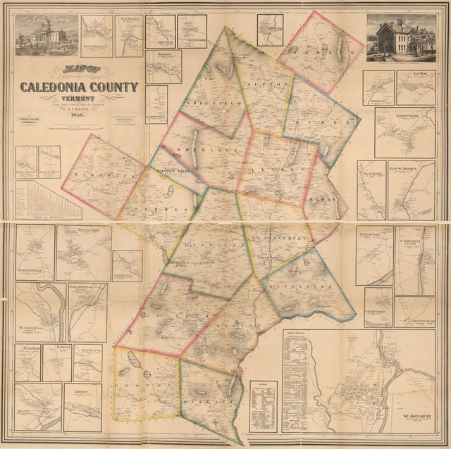 Map of Caledonia County, Vermont /