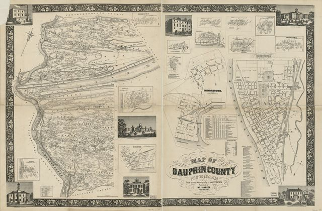 Map of Dauphin County, Pennsylvania : from actual surveys /