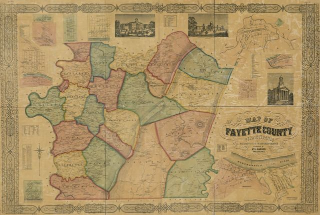 Map of Fayette County, Pennsylvania : from actual surveys /