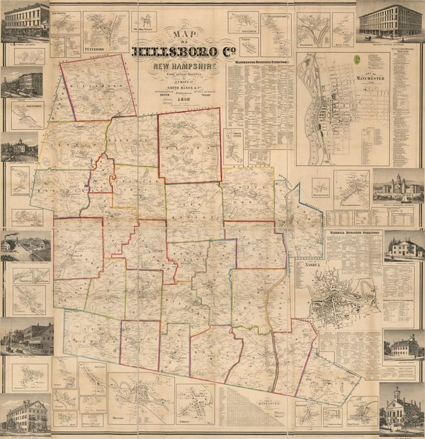 Map of Hillsboro Co., New Hampshire /