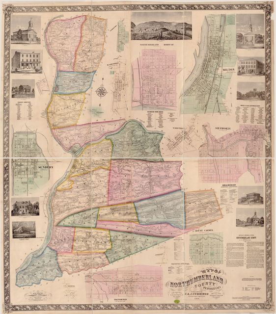 Map of Northumberland County, Pennsylvania : from actual surveys by G.M. Hopkins, Jr., Civil Engineer /