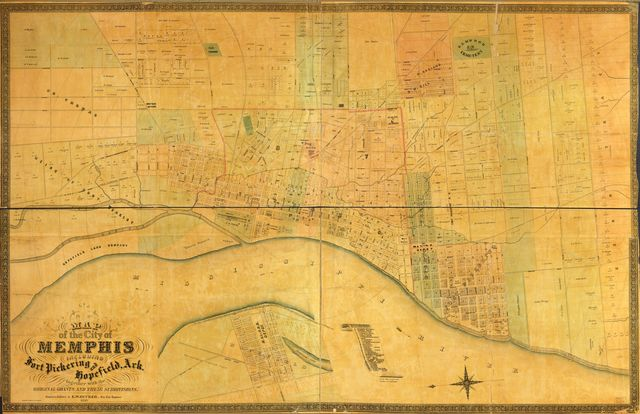 Map of the city of Memphis : including Fort Pickering and Hopefield, Ark. : together with the original grants and their subdivisions /