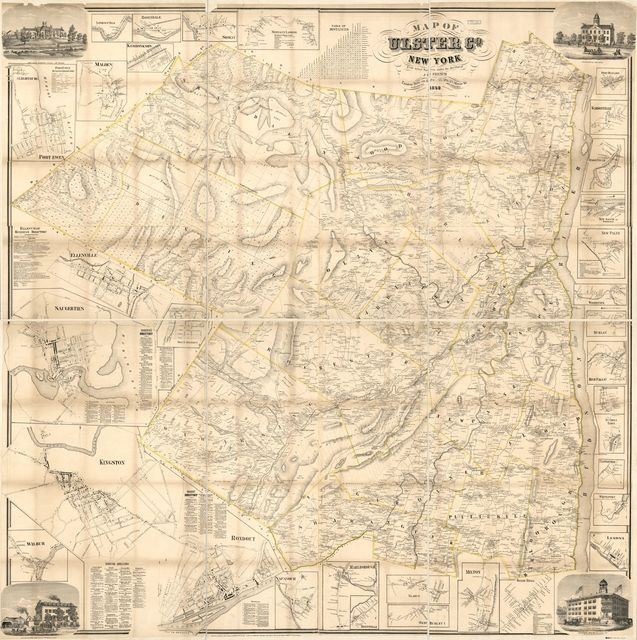 Map of Ulster Co., New York : from actual surveys /