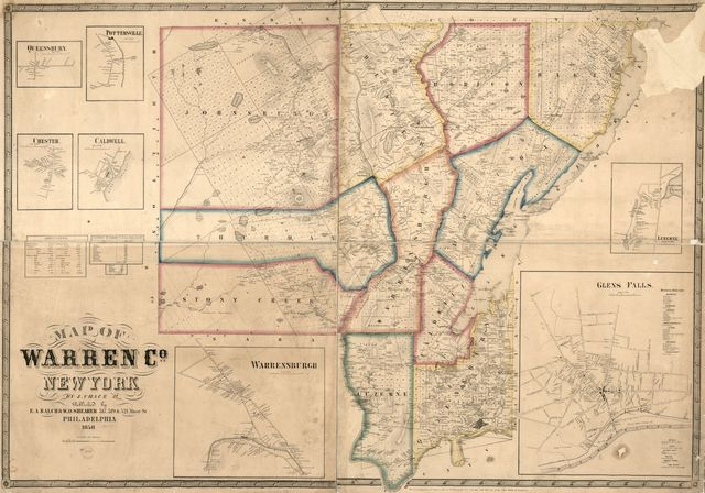 Map of Warren Co., New York /