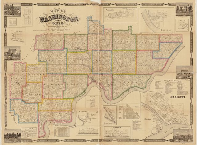 Map of Washington County, Ohio : from actual survey & records by Wm. Lorey.