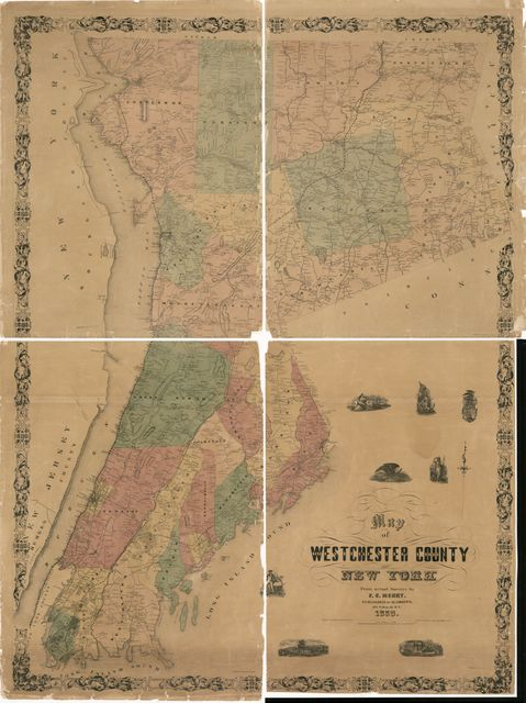 Map of Westchester County, New York : from actual surveys /