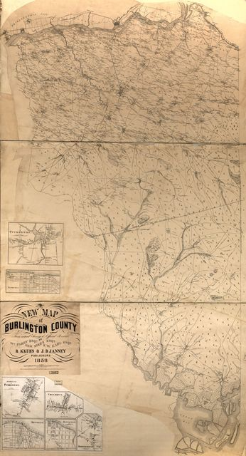 New map of Burlington County : from actual surveys & official records /