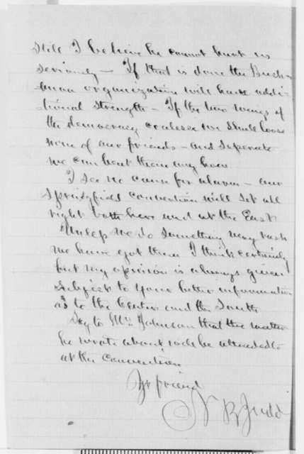 Norman B. Judd to Abraham Lincoln, Tuesday, June 01, 1858  (Senate)