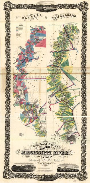 Norman's chart of the lower Mississippi River,