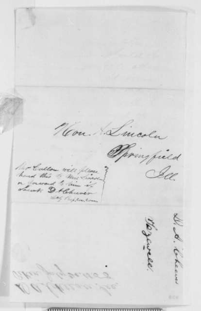 Pekin Illinois Republican Central Committee to Abraham Lincoln, Tuesday, July 20, 1858  (Invitation)