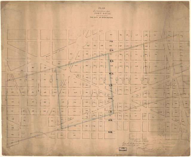 Plan of a tract of land called Port Royal, covered by part of the city of Washington /