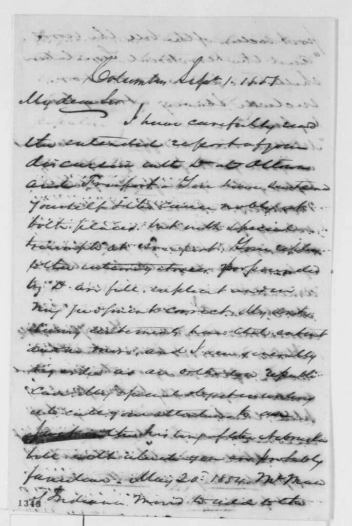 Samuel Galloway to Abraham Lincoln, Wednesday, September 01, 1858  (Debates)