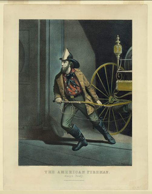 The American fireman - always ready / Louis Maurer.