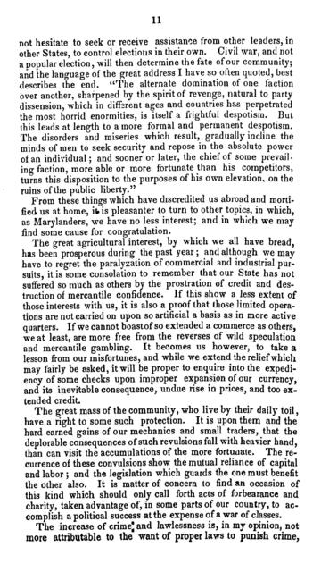 The inaugural address of Thomas H. Hicks, governor of Maryland, delivered in the Senate chamber, at Annapolis, Wednesday, January 13th, 1858.