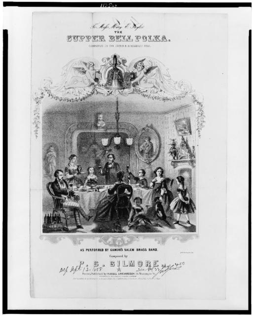 To Miss Mary E. Taylor. The Supper Bell Polka. Companion to the dinner & breadfast bell / J.H. Bufford's Lith.