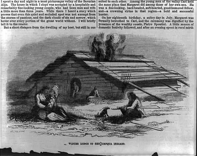 "[Umpqua Indians of Oregon Territory: ""winter lodge of the Umpqua Indians""]"