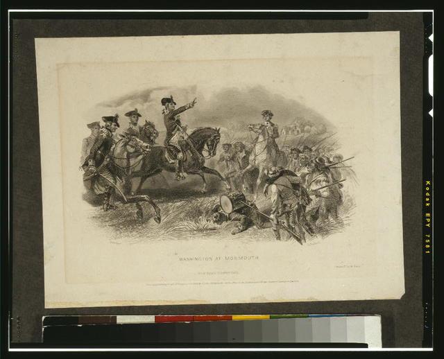 Washington at Monmouth / Darley ; G. R. Hall.