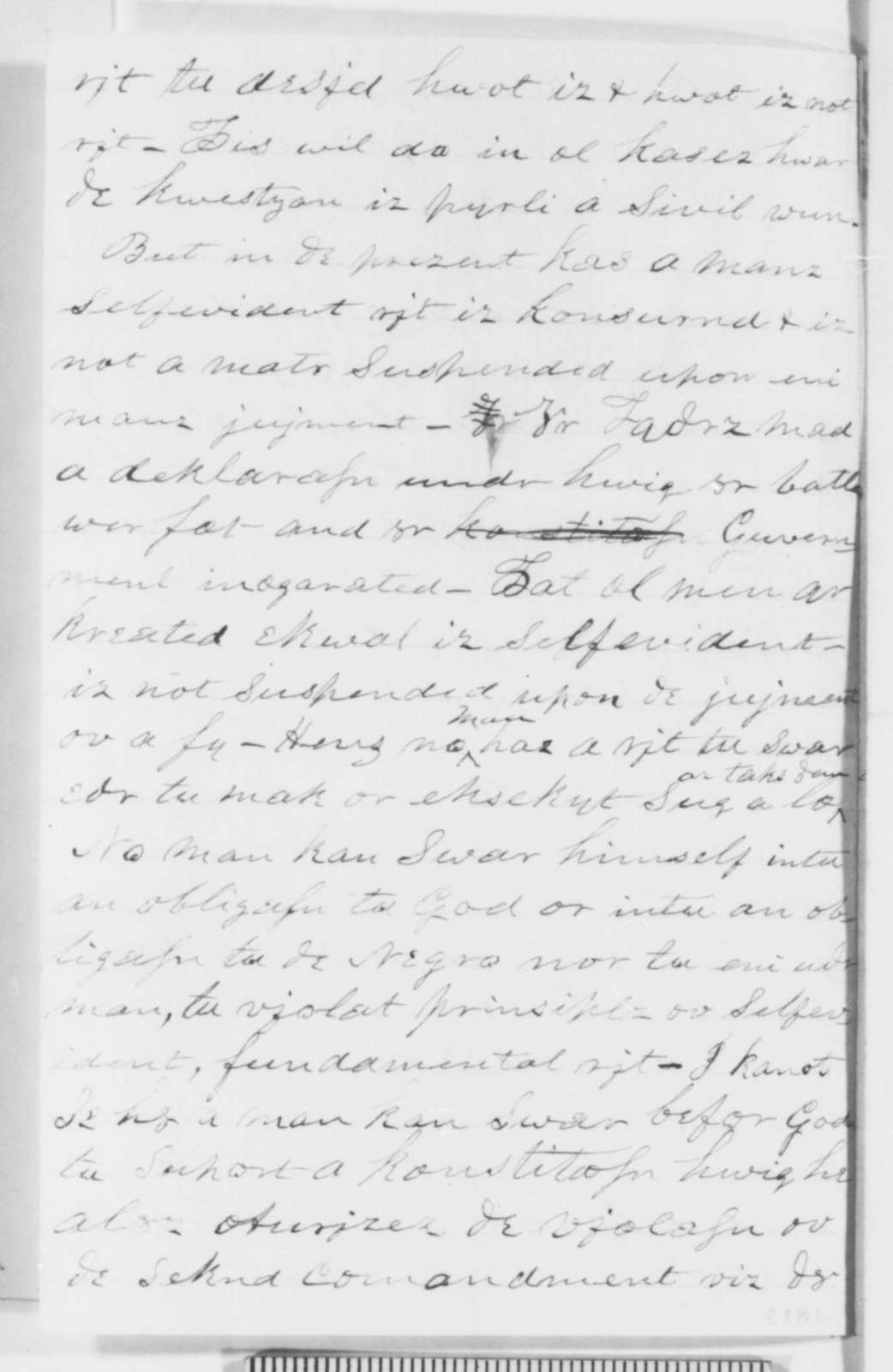A  B  Pikard to Abraham Lincoln, Saturday, August 06, 1859