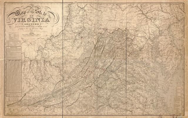 A map of the state of Virginia : reduced from the nine sheet map of the state in conformity to law /