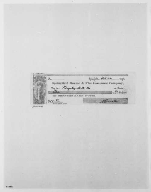 Abraham Lincoln to Kingsley North & Co., Tuesday, February 22, 1859  (Check)