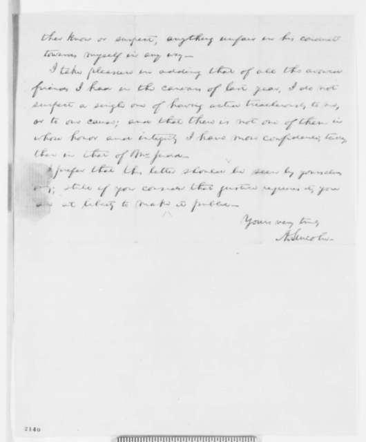 Abraham Lincoln to William H. Brown, Gurdon S. Hubbard, and George W. Dole, Wednesday, December 14, 1859  (Testimonial for Norman B. Judd, Draft 1)