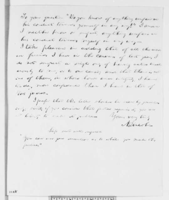 Abraham Lincoln to William H. Brown, Gurdon S. Hubbard, and George W. Dole, Wednesday, December 14, 1859  (Testimonial for Norman B. Judd, Draft 2)