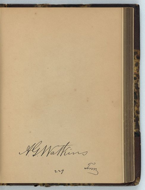 [Albert G. Watkins, Representative from Tennessee, Thirty-fifth Congress, original signature]