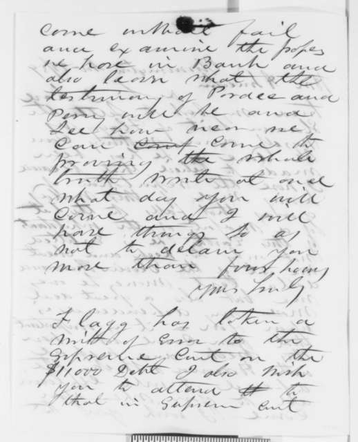Asahel Gridley to Abraham Lincoln, Monday, November 28, 1859  (Legal matters)