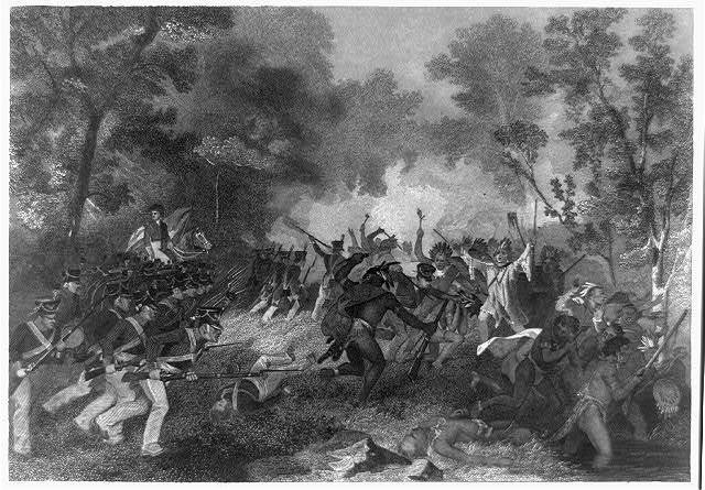 Battle of Tippecanoe / from an original painting by Chappel in the possession of the Publishers.