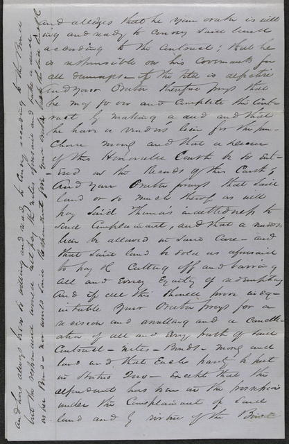 Bill of Complaint in McDaniel v. Thomas, [Law papers].