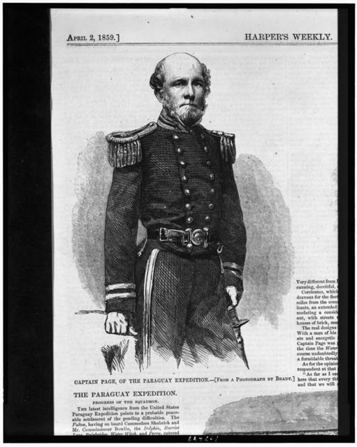 Captain Page of the Paraguay expedition / From a photograph by Brady.