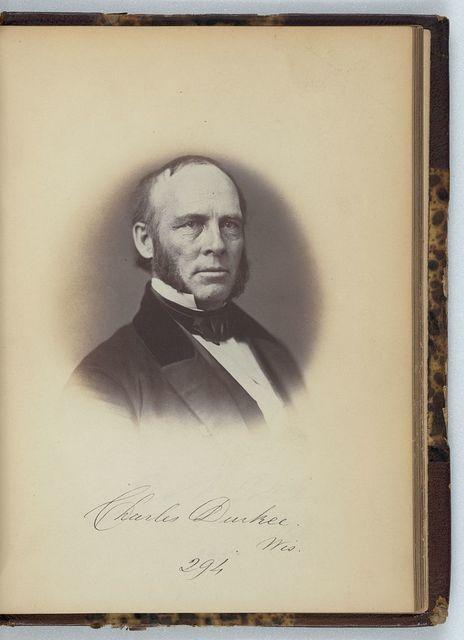 [Charles Durkee, Senator from Wisconsin, Thirty-fifth Congress, half-length portrait]